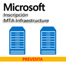 Inscripción MTA Infraestructure Windows Server 2016