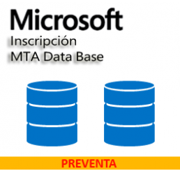 Inscripción MTA Data Base SQL Server 2016